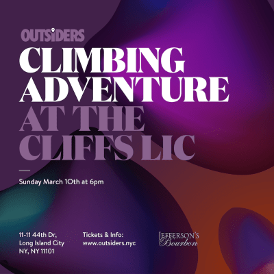 Outsiders: The Cliffs Climbing Adventure- Sunday March 10th