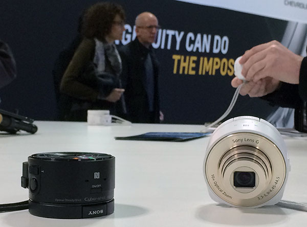 Sony's QX series aims to take smartphone photography to a level that the integrated cameras still can't touch. While the palm-sized unit can work on its own, pair with an Android or IOS device and use WiFi to view and control your shots.