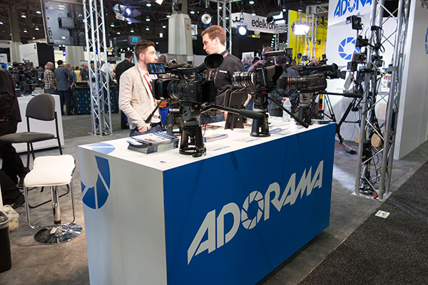 Local businesses such as Adorama made a place for themselves on the show floor.