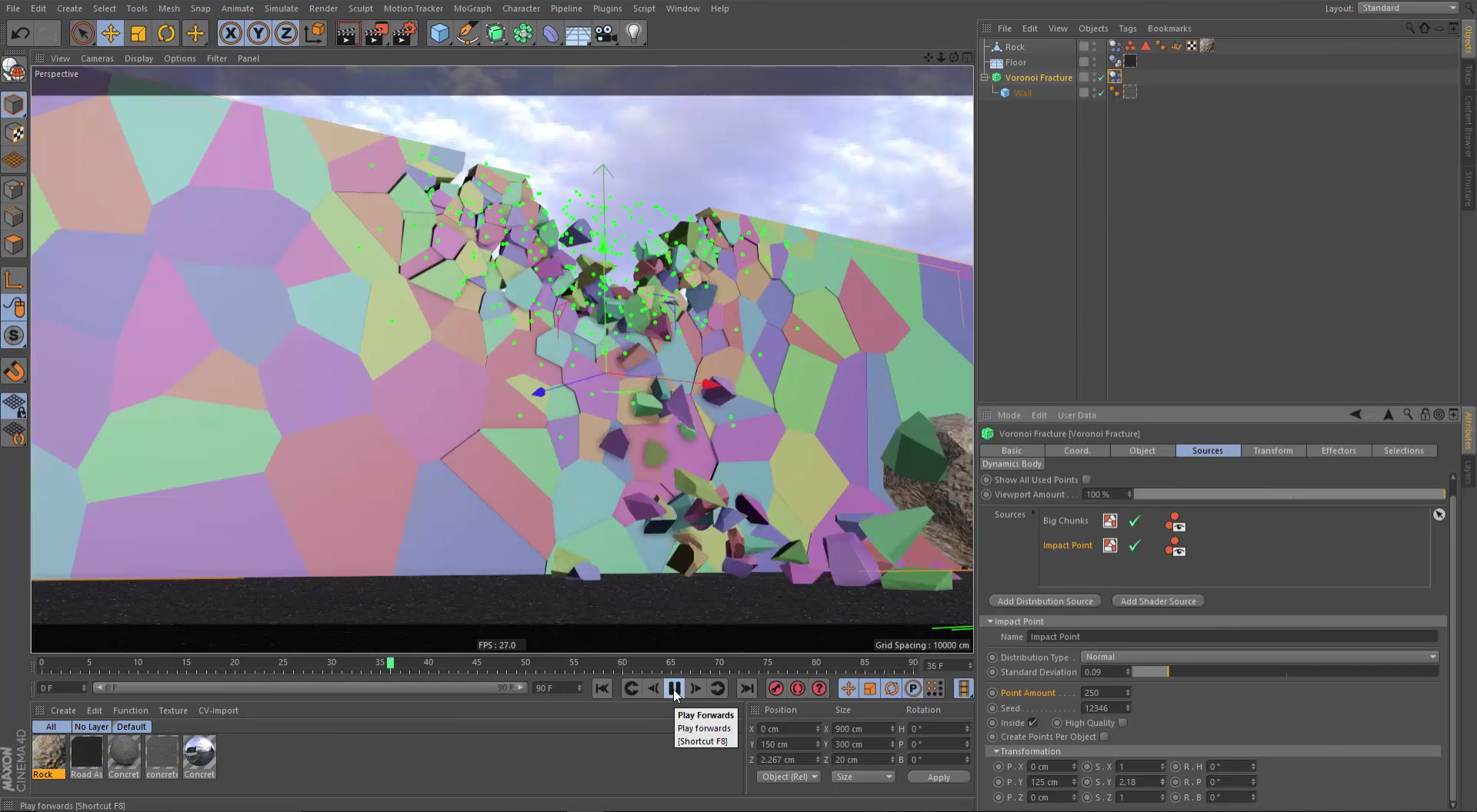 Voronoi fracturing allows you to break up and fracture your models in multiple ways.