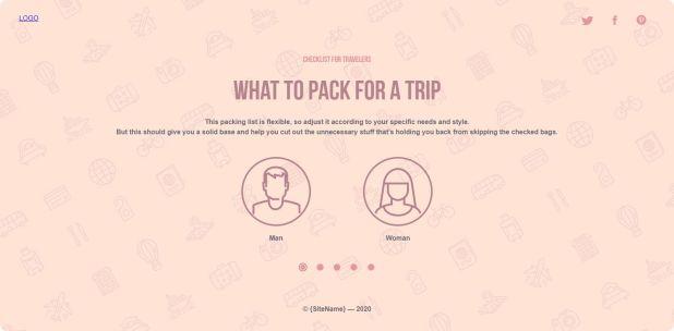 Travel Checklist Preview