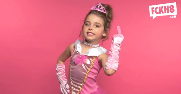little girl cursing