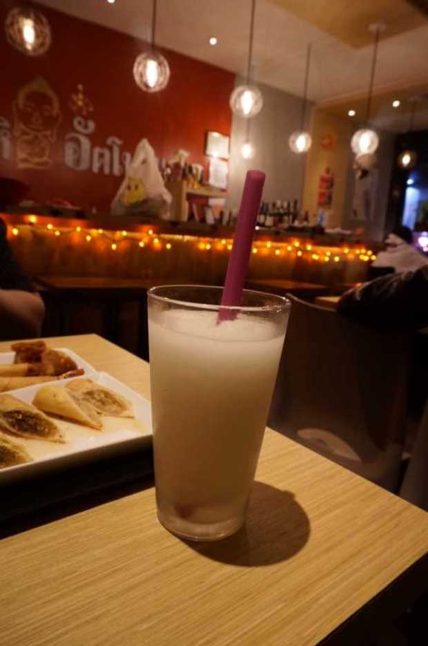 suki thai shabu lychee smoothie