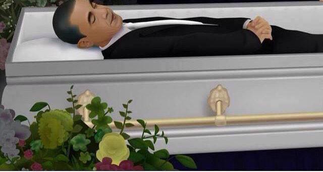 obama casket