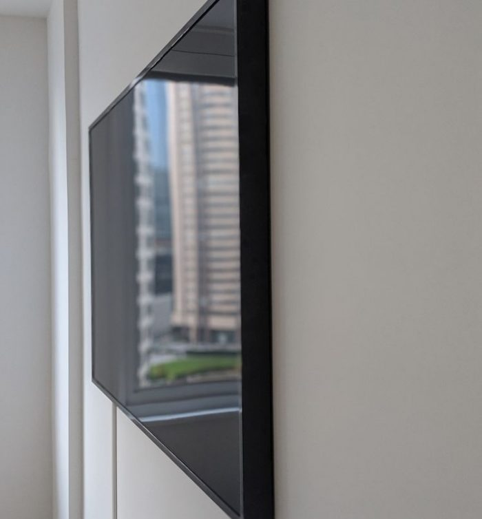 60'' Picture frame TV Concealed wires