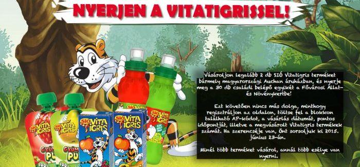 Auchan: Sió Vitatigris nyereményjáték