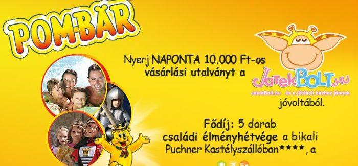 Jön a Pom-Bär nyereményjáték