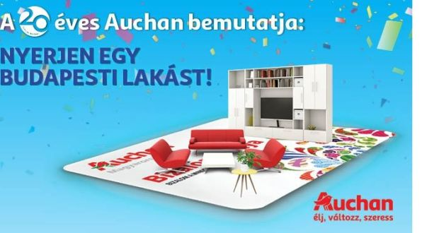 """Auchan nyereményjáték: """"Nyerjen egy budapesti lakást!"""""""