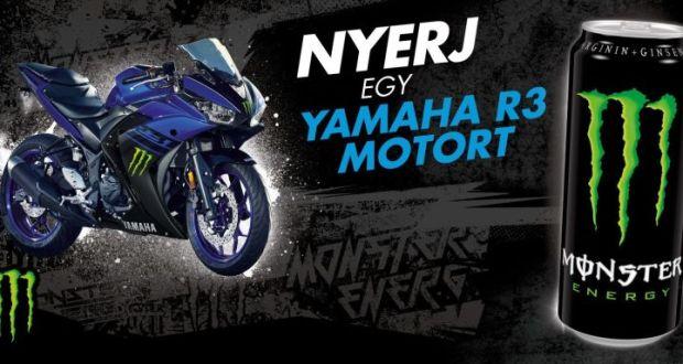 Monster nyereményjáték - nyerj egy Yamaha R3-mas motort!