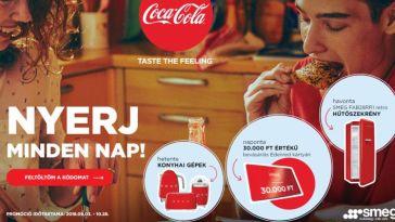 Coca-Cola nyereményjáték - máregy kódfeltöltésével indulsz a napi nyereményért, a30 000 Ft értékű Edenred utalványért!