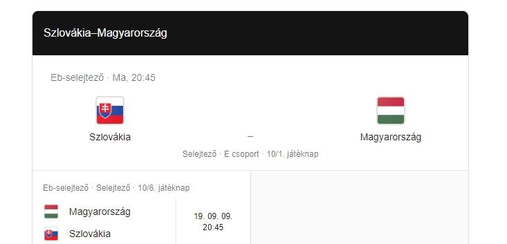 Szlovákia-Magyarország EB selejtező-mérkőzés – live stream, élő közvetítés