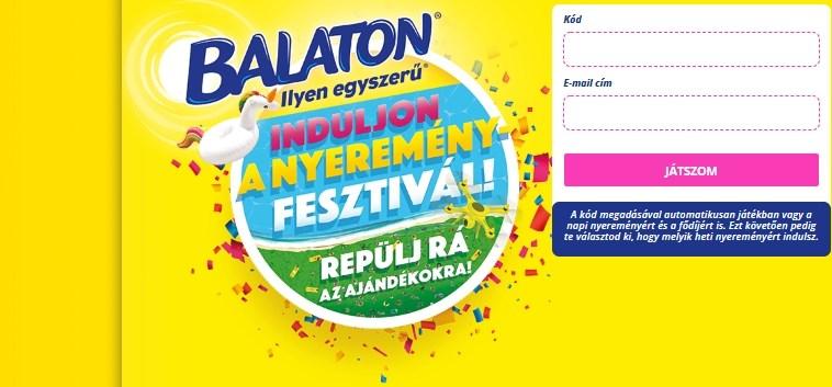 """Balaton Szelet nyereményjáték - """"Induljon a nyereményfesztivál!"""": a játék június 16-ig tart!"""