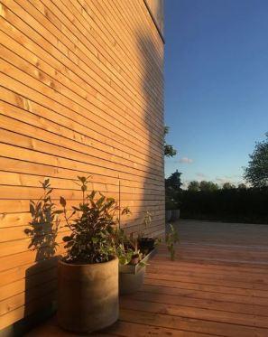 Rombeformede lister og terrassebrædder i douglas