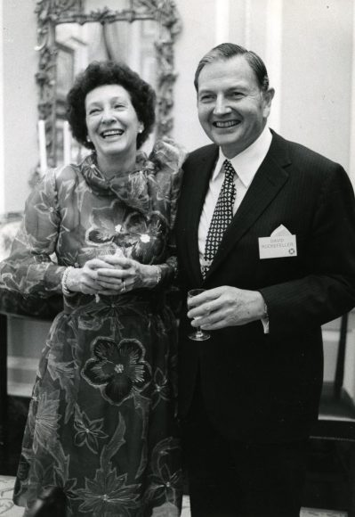 DR and Peggy May 13 1973 Reception Annenberg residence Arthur Lavine photo