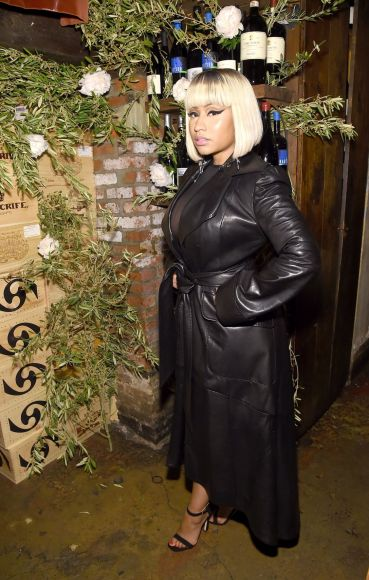 NEW YORK, NY - MAY 16:  Nicki Minaj attends ELLE x Stuart Weitzman celebration of Giovanni Morelli's debut collection for Stuart Weitzman hosted by Nina Garcia on May 16, 2018 in New York City.  (Photo by Jamie McCarthy/Getty Images for ELLE)