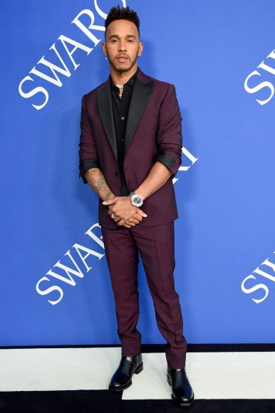 NEW YORK, NY - JUNE 04:  Lewis Hamilton attends the 2018 CFDA Fashion Awards at Brooklyn Museum on June 4, 2018 in New York City.  (Photo by Kevin Mazur/WireImage)