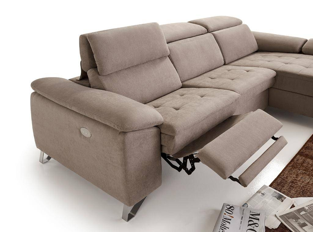 esf uve sectional modern beige fabric