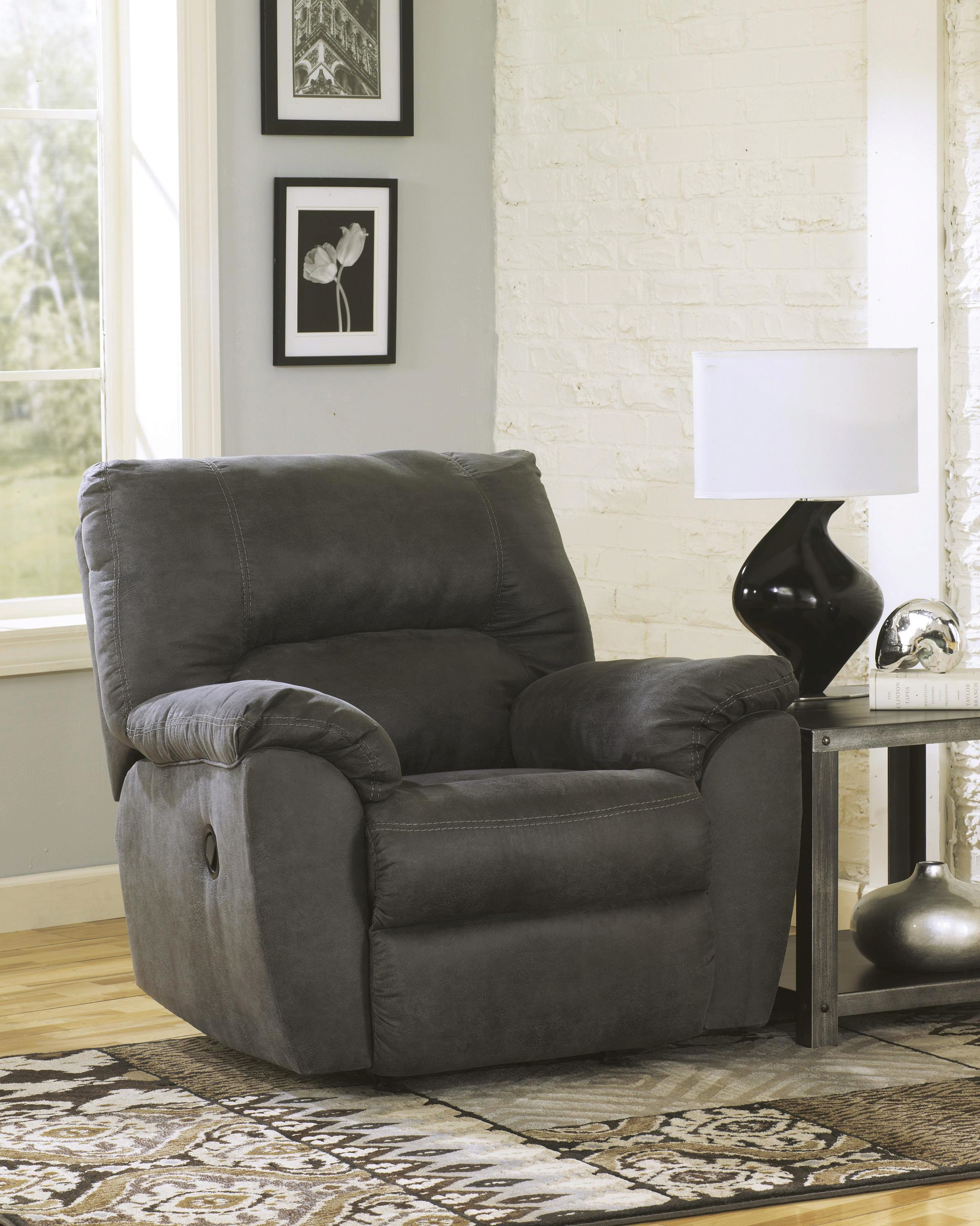 ashley tambo 3 piece sectional in pewter