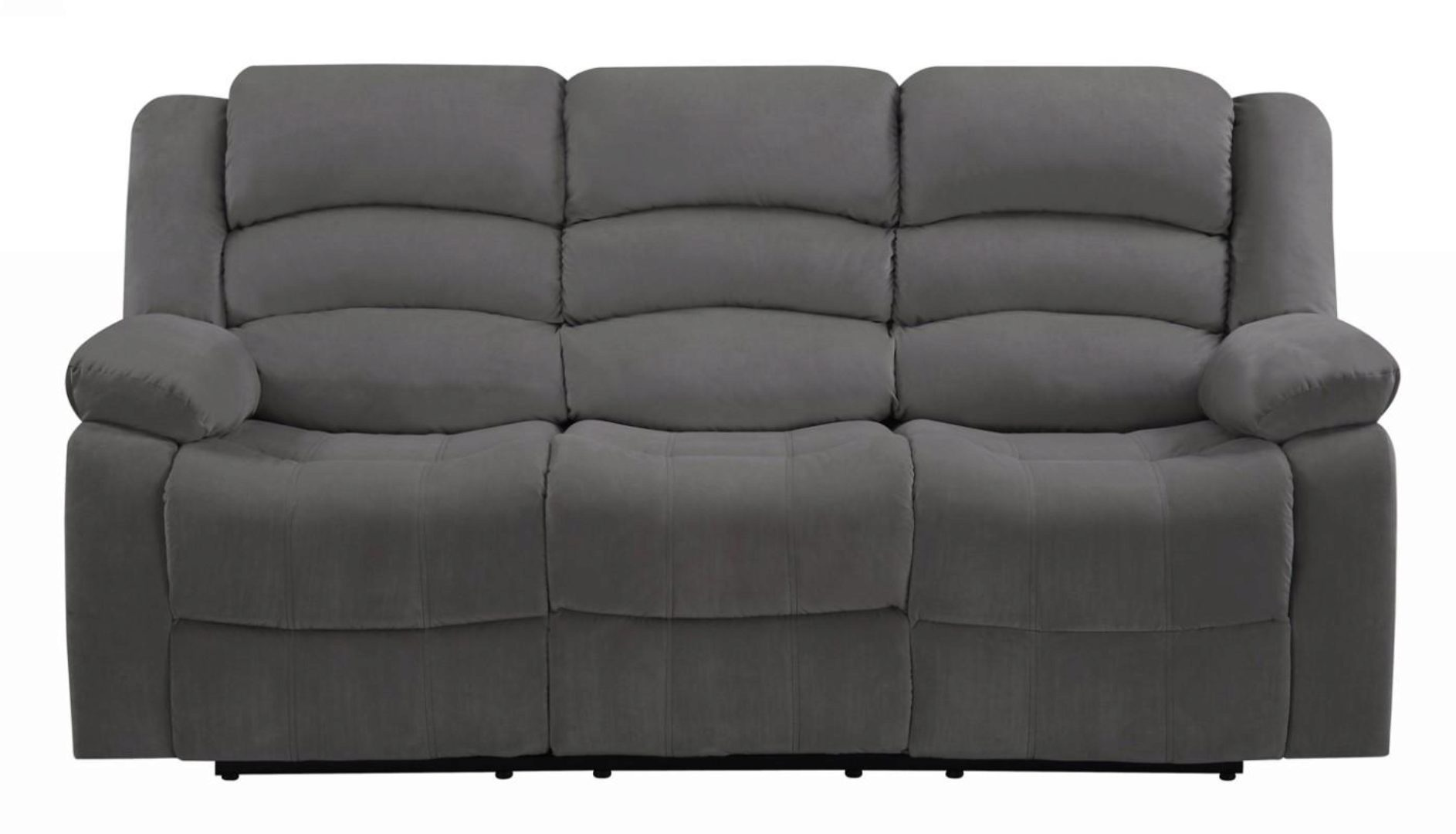 gray microfiber sofa set 3 pcs contemporary global united 9824