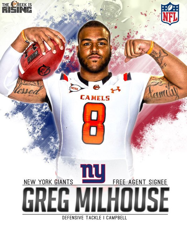 Diamond in the Rough Part 2:  Giants Sign UDFA Greg Milhouse Jr