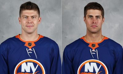 Goaltenders Semyon Varlamov and Thomas Greiss