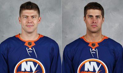 Goaltenders Semyon Varlamov and Thomas Greiss