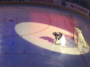 Semyon Varlamov prior to game 3