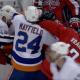 New York Islanders Washington Capitals skirmish