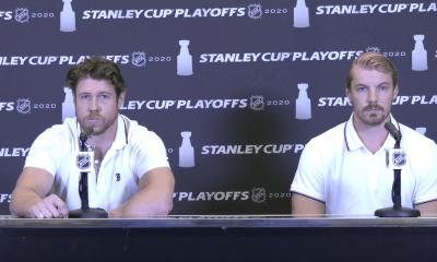 New York Islanders Matt Martin and Scott Mayfield