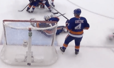 Thomas Greiss makes a save