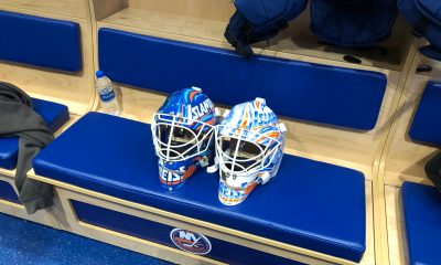 New York Islanders goaltenders mask