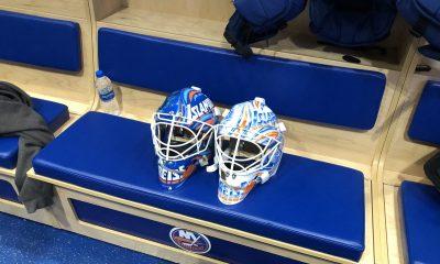 New York Islanders goaltenders mask