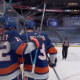 Islanders celebrate Brock Nelson's game-winning goal in Game 3