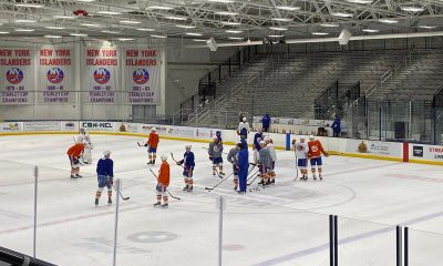 New York Islanders practice on Long Island