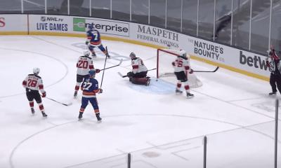 Jordan Eberle scores for the New York Islanders