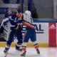 New York Islanders Mathew Barzal crosscheck