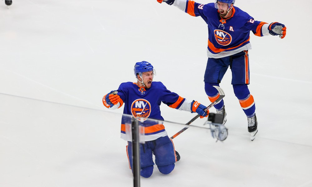 Anthony Beauvillier New York Islanders win at Nassau Coliseum