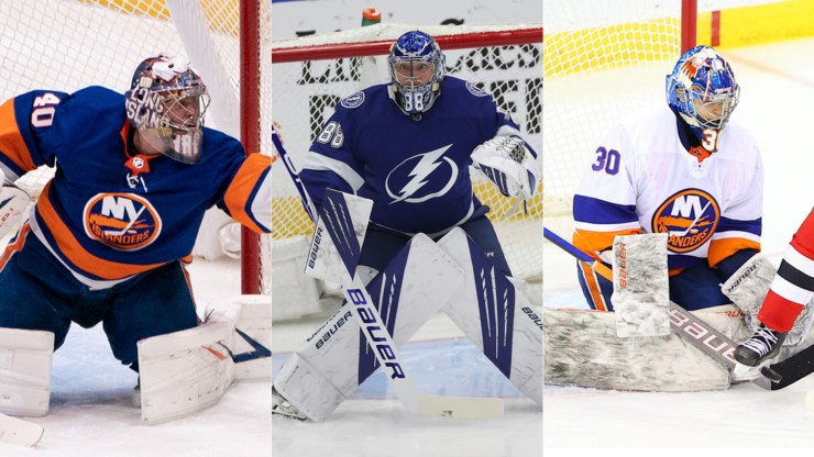 New York Islanders Tampa Bay Lightning Goalies