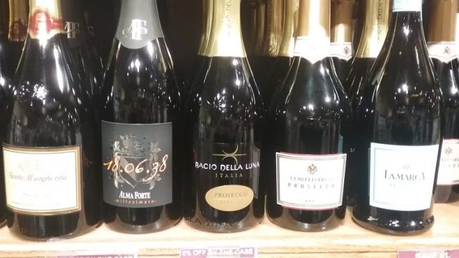 proseco line up at stew leonards
