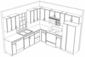 10x10 3D Kitchen refacing Layout