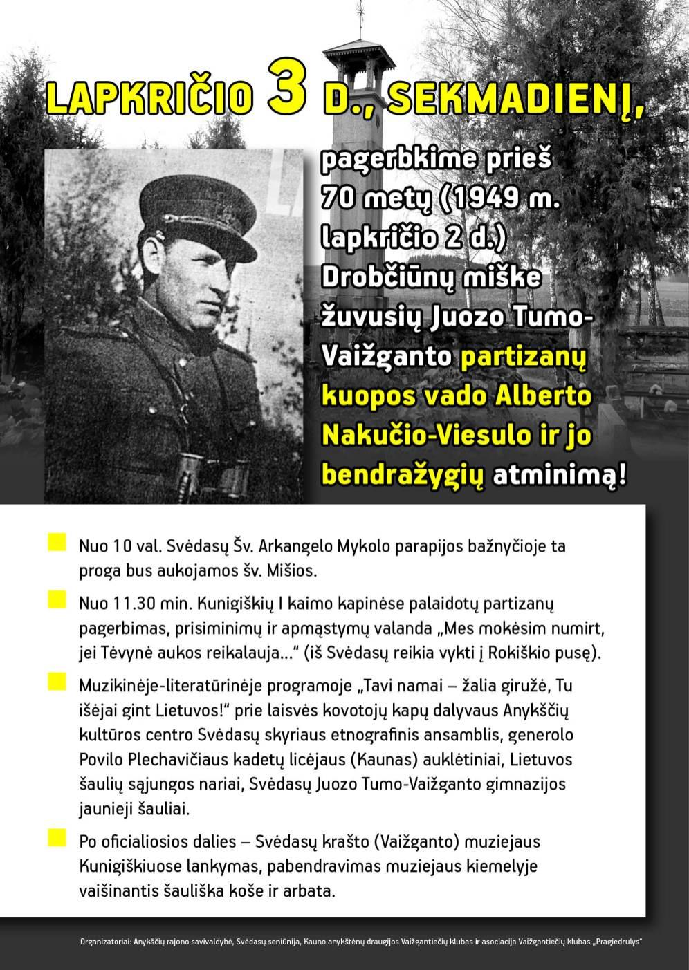 plakatas partizanu A3