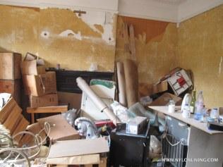 The living room post demolition.