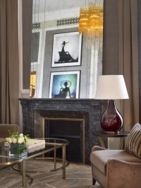 couture suite fireplace