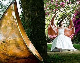 copper garden swing