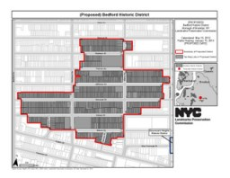 Proposed Bedford Historic District. Credit: LPC.