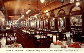 Original interior of the Gage & Tollner Restaurant. Image Courtesy: Rosenbaum Design Group.