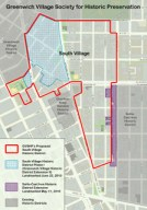Map of proposed and existing South Village Historic District. Image Courtesy: Greenwich Village Society for Historic Preservation.
