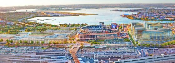Aerial rendering of the Willets Point proposal. Image Credit: EDC.