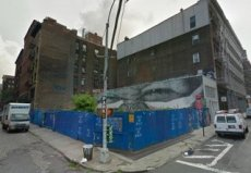 Current vacant lot at 74 Grand Street, Manhattan. Image Credit: Google.
