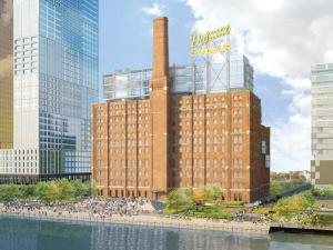 Updated rendering of new proposed Domino redevelopment. Image courtesy of SHoP Architects.